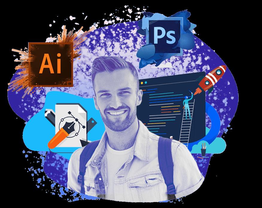 Старт ближайших курсов в Москве Дизайн для начинающих <br> (Photoshop, Illustrator) 11 марта